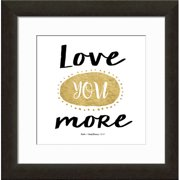 Carpentree Gold Letter 'Love You More' Framed Textual Art
