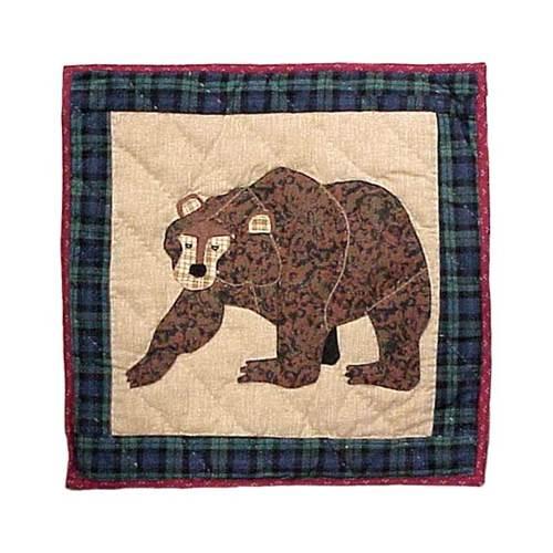 Cabin Bear Toss Pillow