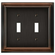 Elumina Continental Cast 2 Toggle Wallplate, Aged Bronze