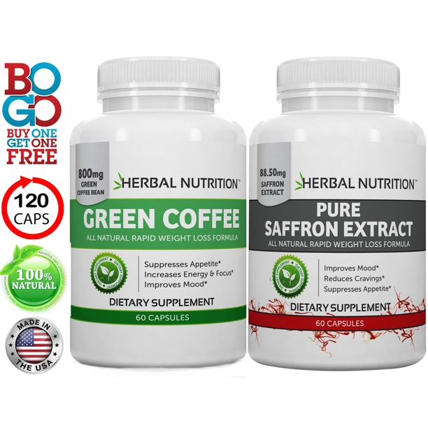 Diet Stack Saffron Extract Green Coffee Bean Extract One 60