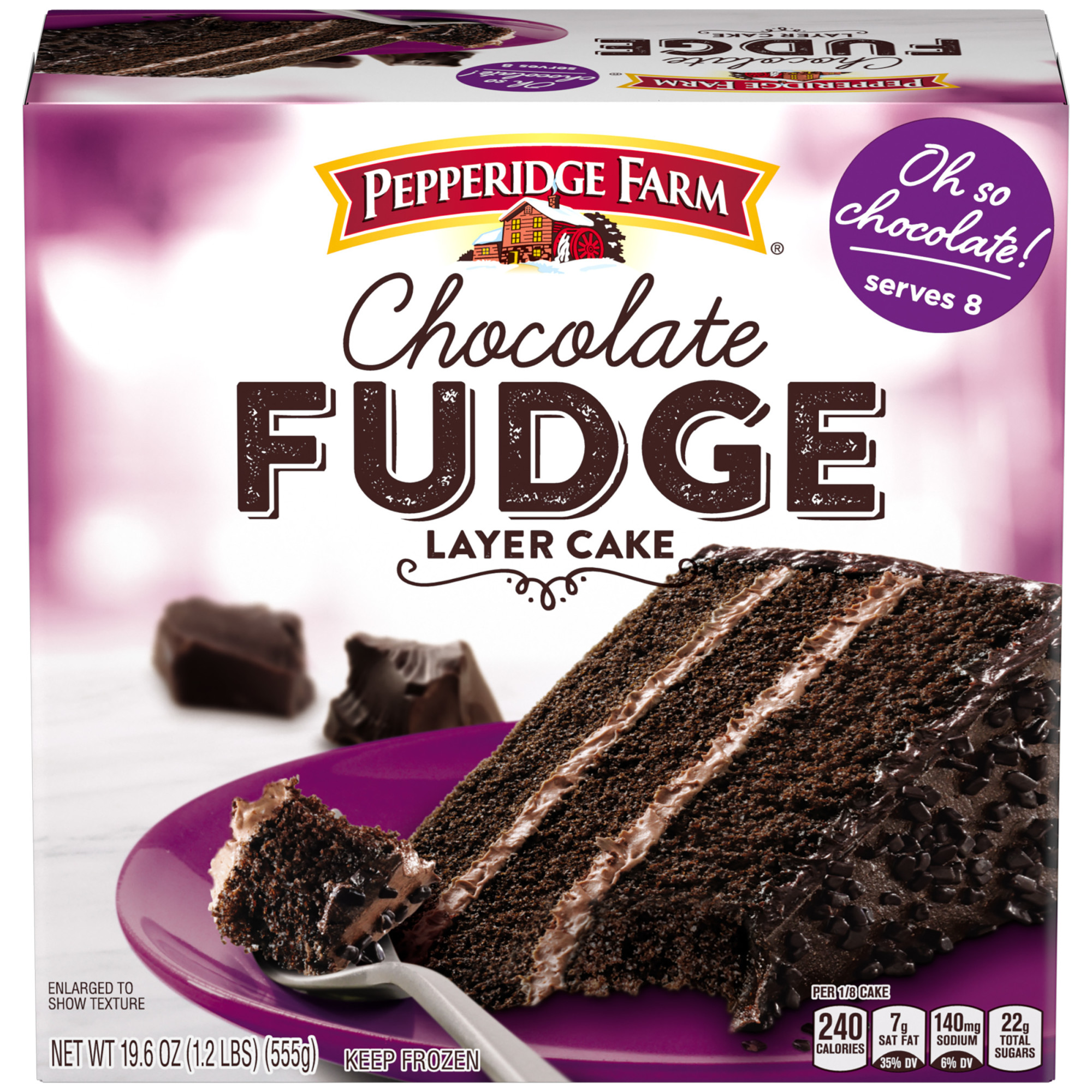 Pepperidge Farm Frozen Chocolate Fudge Layer Cake 19 6 Oz Box Walmart Com Walmart Com