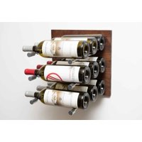 VintageView GNR-VP3 Grain And Rod 9 Bottle Capacity Wall Mounted Label Forward Wine Rack