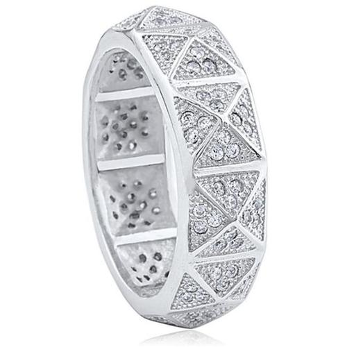 Doma Jewellery SSRZ7386 Sterling Silver Ring With Cubic Zirconia, Size 6