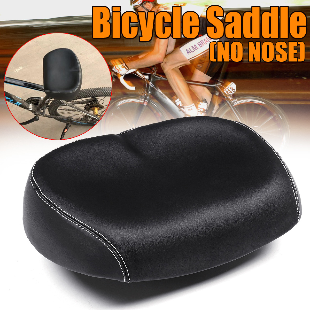 Unisex Big Bum Bike Bicycle Cycling Sprung Saddle Soft Wide Seat Comfortable Pad