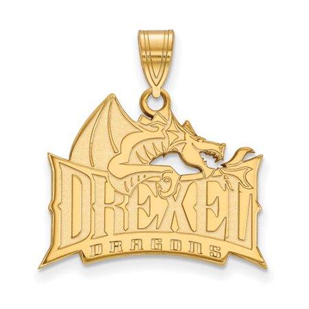10K Yellow Gold Logoart Official Licensed Collegiate Drexel University Large Pendant