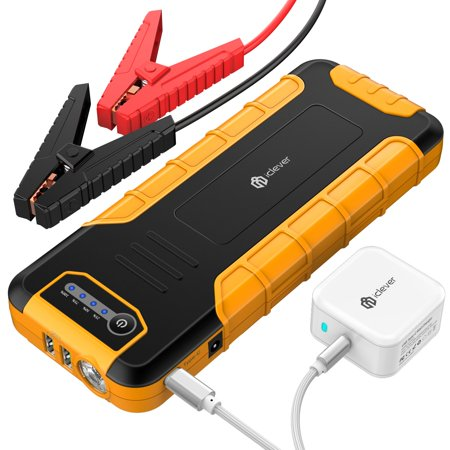 [PD 30W Input & Output] iClever 20000mAh Car Jump Starter (up to 8L gas or 6.5L diesel engine), Power Delivery 30W Power Bank with Dual USB 3.0 Quick Charging for Nintendo Switch and
