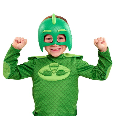 PJ Masks Deluxe Dress Up Top & Mask Set - Gekko - Geico Costume