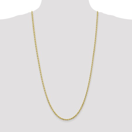10k Yellow Gold 3.35mm Quadruple Link Rope Chain Necklace 30 Inch Pendant Charm Handmade Fine Jewelry For Women Gifts For Her - image 2 of 9