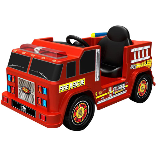 Kid Motorz Fire Engine 6-Volt Battery-Powered Ride-On