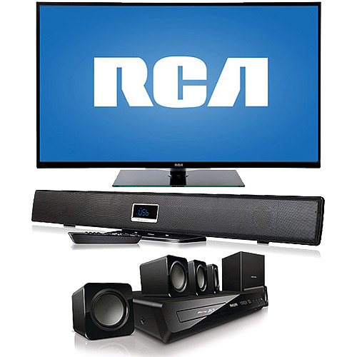 "RCA 50"" LED50B45RQ 1080p 60Hz LED HDTV with Soundbar"