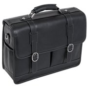 "McKleinUSA Beverly S Series 15445 Laptop Case - Shoulder Strap, Hand Strap15.4"" Screen Support - 12"" x 16.5"" x 5"" - Leather - Black"