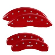 MGP 4 Caliper Covers Engraved Front & Rear Denali Red finish silver ch