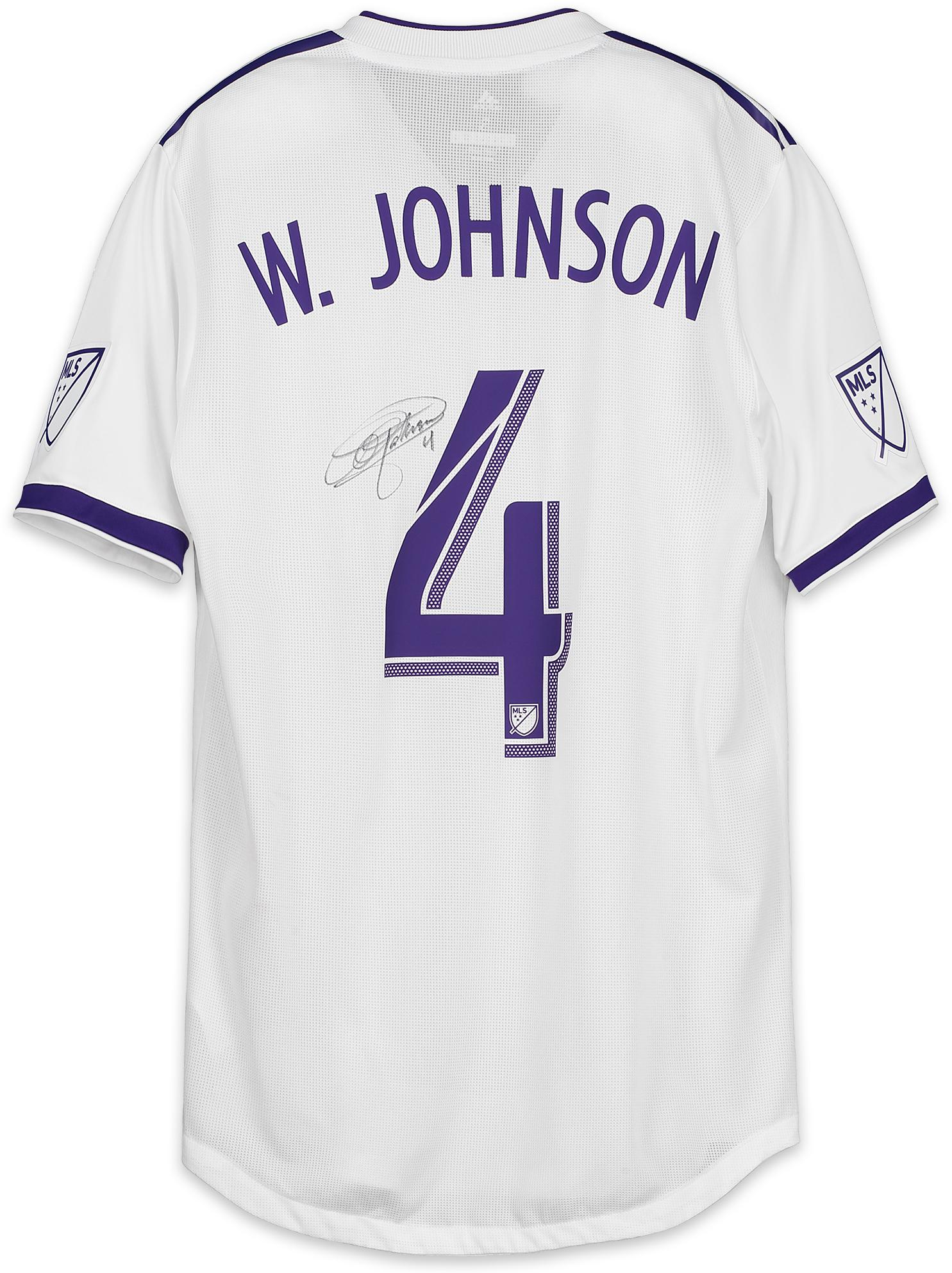 new product 8bc41 05afb Will Johnson Orlando City SC Autographed Match-Used White #4 Jersey vs.  Sporting Kansas City on September 8, 2018 - Fanatics Authentic Certified