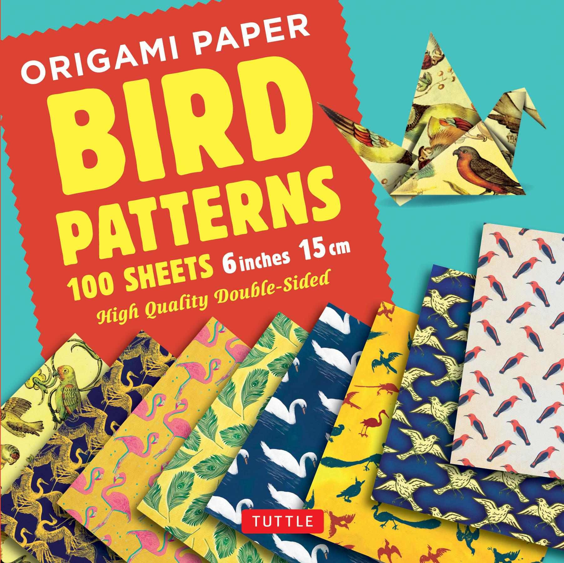 """Origami Paper 100 Sheets Bird Patterns 6"""" (15 CM): Tuttle Origami Paper: High-Quality Origami Sheets Printed with 8 Different Designs: Instructions for 8 Projects Included (Other)"""