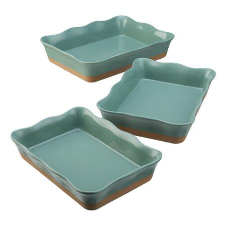 Better Homes & Gardens Ellie Rectangular Baking Dish, Set of 3, Multiple Colors