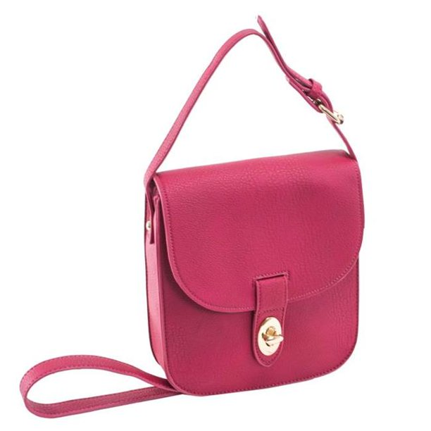 McKlein 11346 Maya II Textured Faux Leather Crossbody Bag, Berry