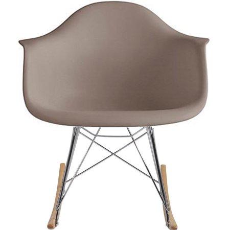 2xhome Grey Mid Century Modern Molded Shell Designer