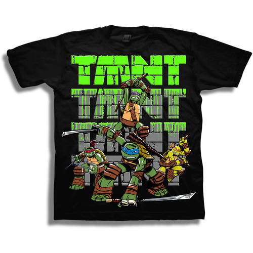 TMNT Animated Action Boys' Short Sleeve Graphic Tee T-Shirt