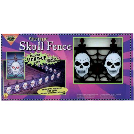 Fence Gothic Skull Halloween - Gothic Halloween Decorations