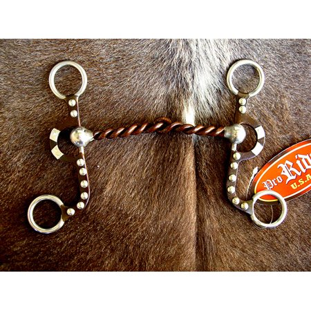 Silver Dots Sweet Iron Snaffle Twisted Wire 5