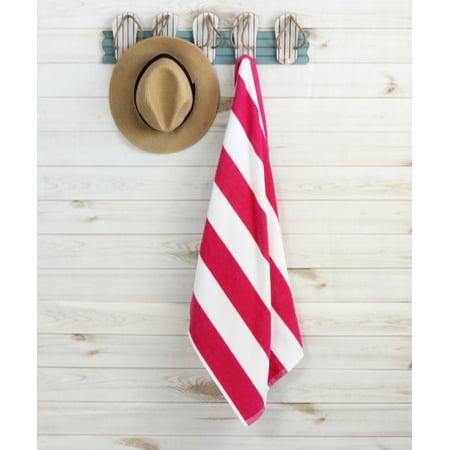 "Cabana Stripe Beach Towel - Pink - 28"" x 60"" by Mainstays"