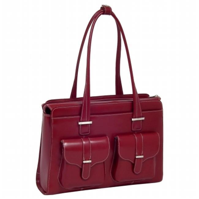 McKlein 96540 ALEXIS Leather Ladies Briefcase- Orange - image 4 of 4