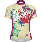 Primal Wear Impression Women's Cycling Jersey: Tan/Fuchsia, MD
