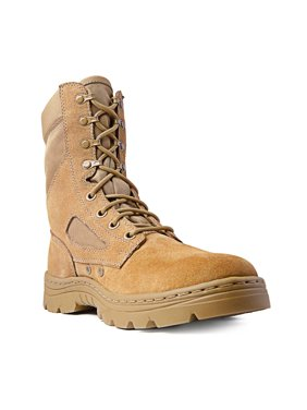 "Ridge Footwear 3208 Men's Dura-Max 8"" Suede Leather Coyote Tactical Boots"