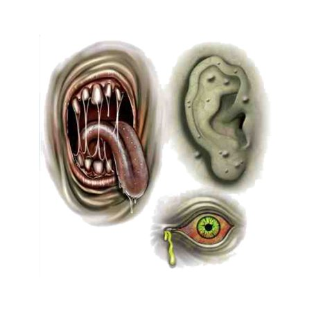 Biohazard Zombie Mutant Theme Temporary Tattoo Set