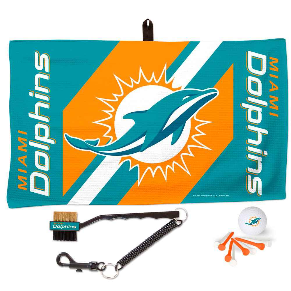 Miami Dolphins WinCraft Waffle Towel Golf Gift Set - No Size