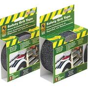 "Incom RE3950 1"" X 15' Black Gator Grip® Anti Slip Safety Grit Tape"
