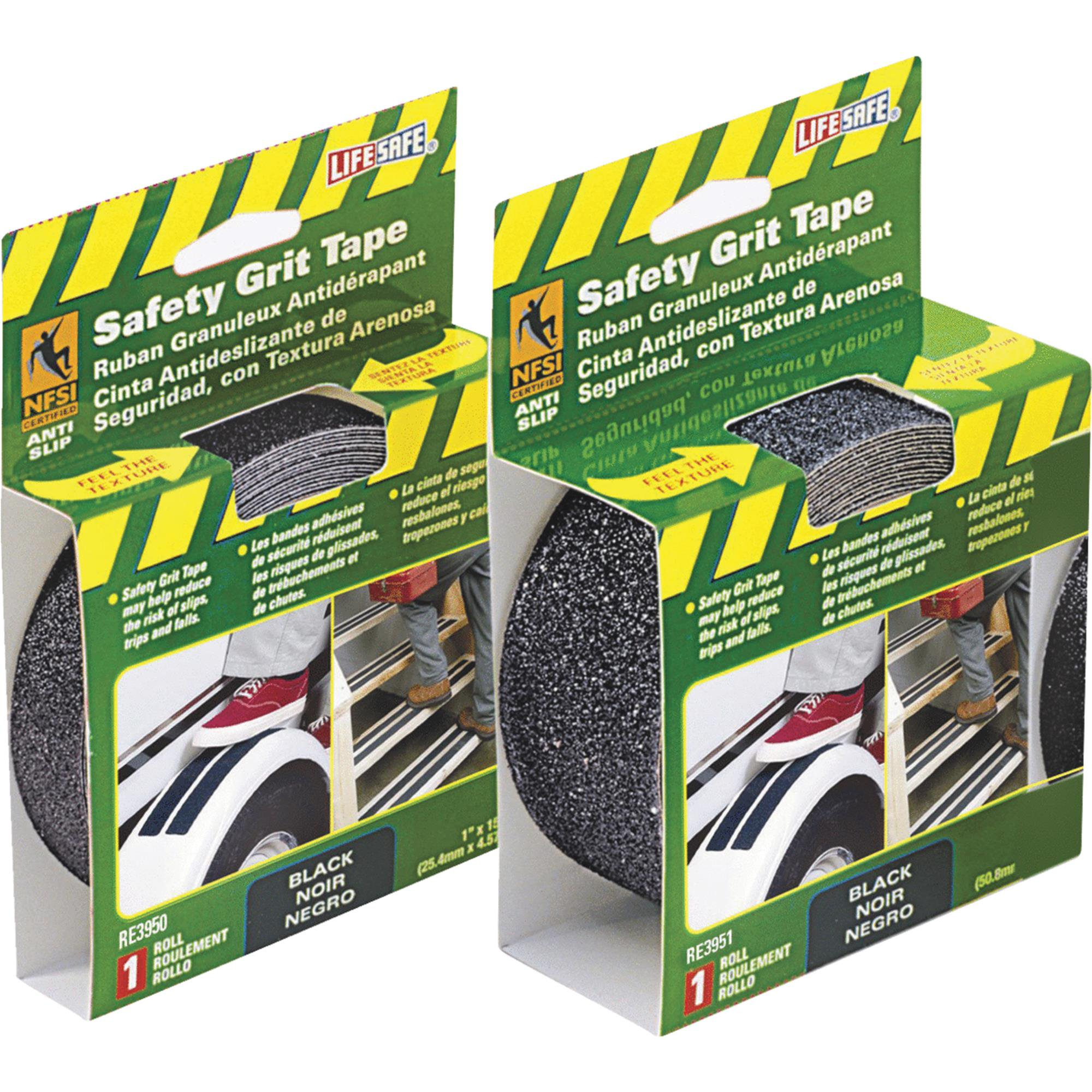 "Incom RE3950 1"" X 15' Black Gator Grip® Anti Slip Safety Grit Tape"