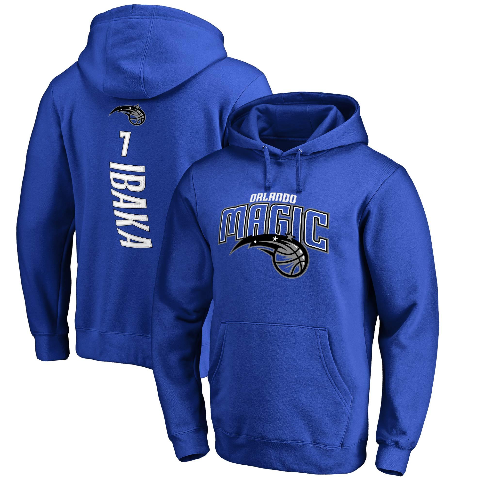 Serge Ibaka Orlando Magic Fanatics Branded Backer 3 Pullover Hoodie - Blue