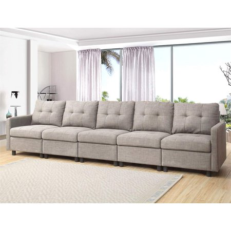 Dazone 5 Pieces Grey Modern Modular Sectional