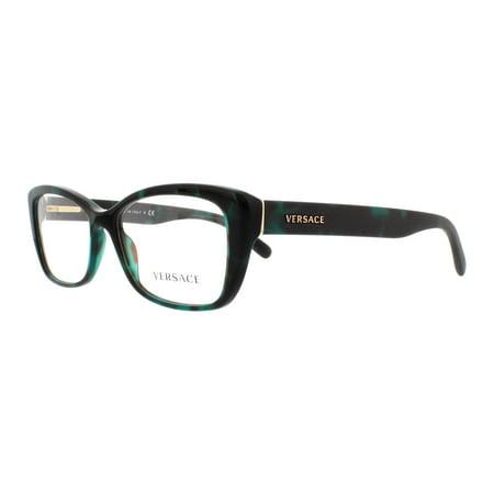 cd6d92f8094d2 VERSACE Eyeglasses VE 3201 5076 Green Havana 54MM - Walmart.com