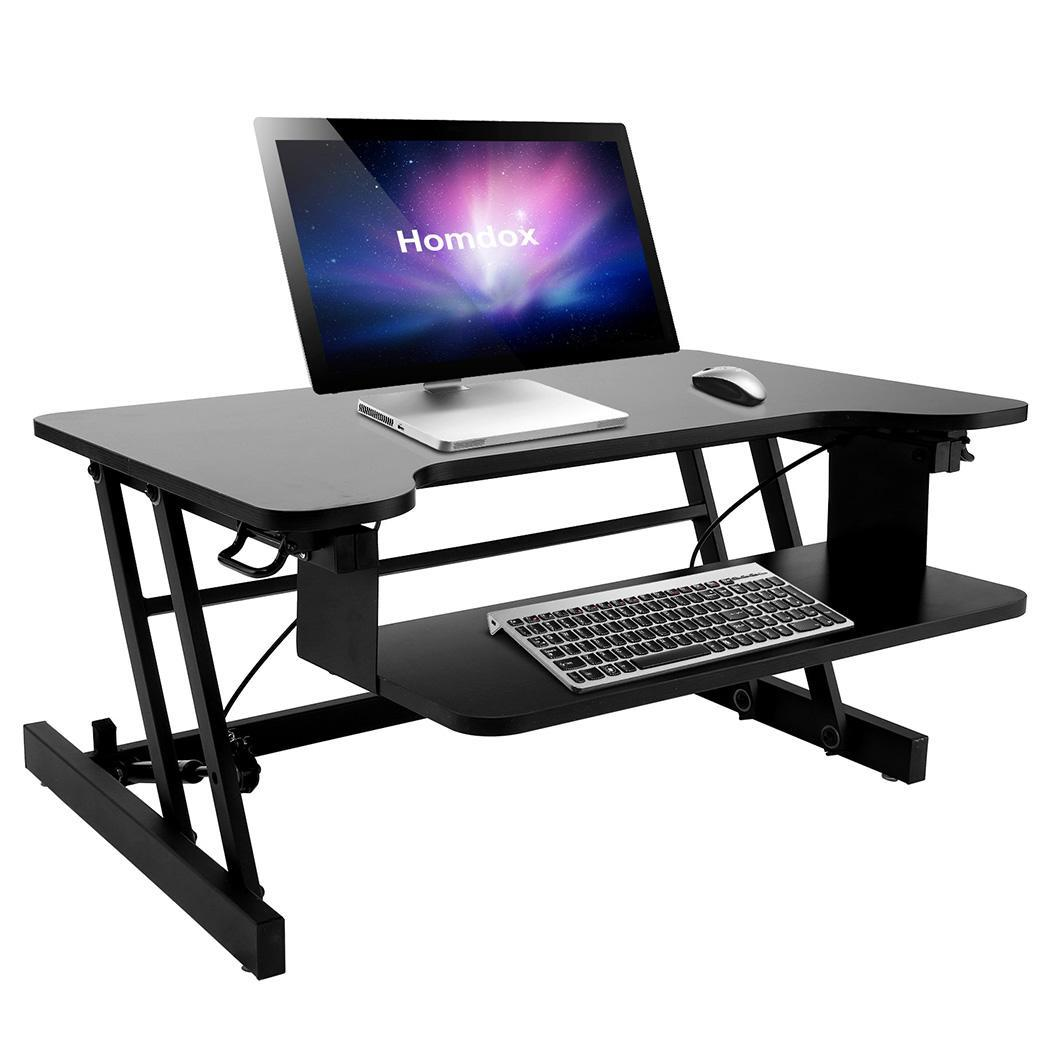 Wide Sit  Adjustable Height Sturdy Standing Desk with Ret...