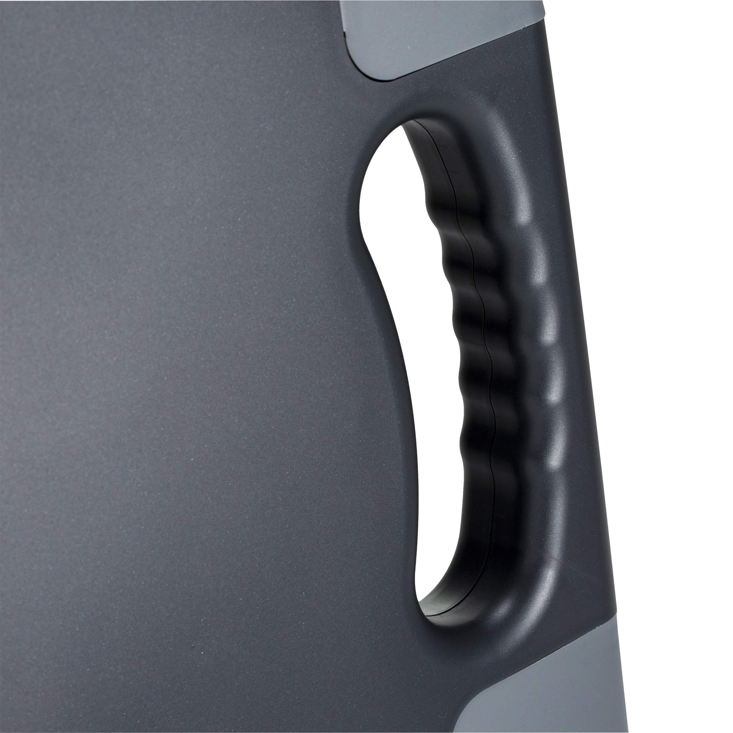 Charcoal 83301 Ergonomic Hand Grip Officemate Portable Clipboard Storage Case