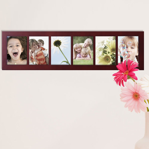 Adeco Trading 6 Opening Decorative Wall Hanging Divided Picture Frame