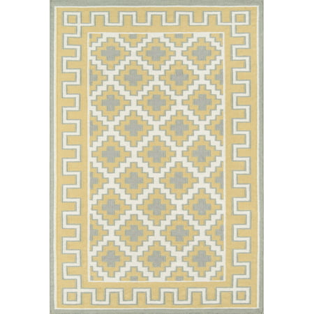 Erin Gates by Momeni Thompson Brookline Gold Hand Woven Wool Area Rug 2' X 3' ()