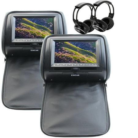Eincar Two of Headrest Car DVD player 7