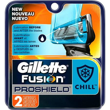 Gillette Fusion5 ProShield Chill Mens Razor Blades, 2 Blade Refills