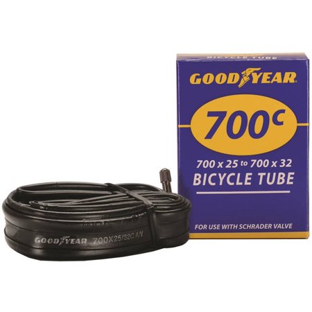 Goodyear 91082 Bicycle Tube, For Use With 700c x 25 - 700c x 32 Width Bicycle Tires, Butyl Rubber, B
