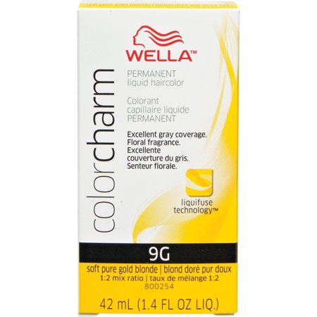Wella Color Charm Liquid Haircolor, 9g Soft Pure Golden Blonde, 1.4 oz (Pure Liquid Gold)