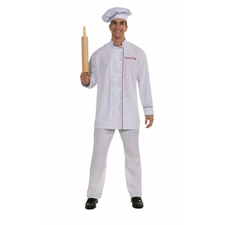 GOURMET CHEF adult mens apron baker funny uniform womens halloween costume - Mens Funny Costumes
