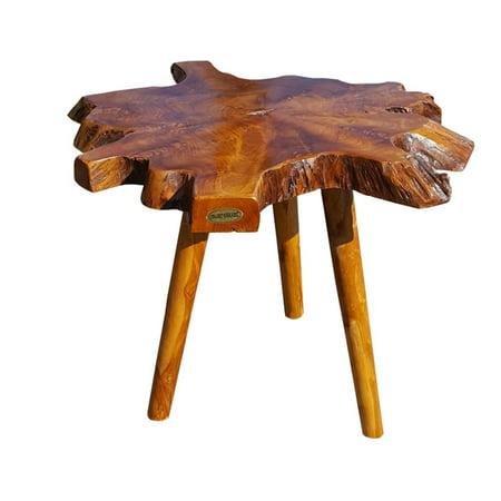 Chic Teak Ampyang Wood Leg Teak Side Table (Best Teak Furniture Manufacturer)