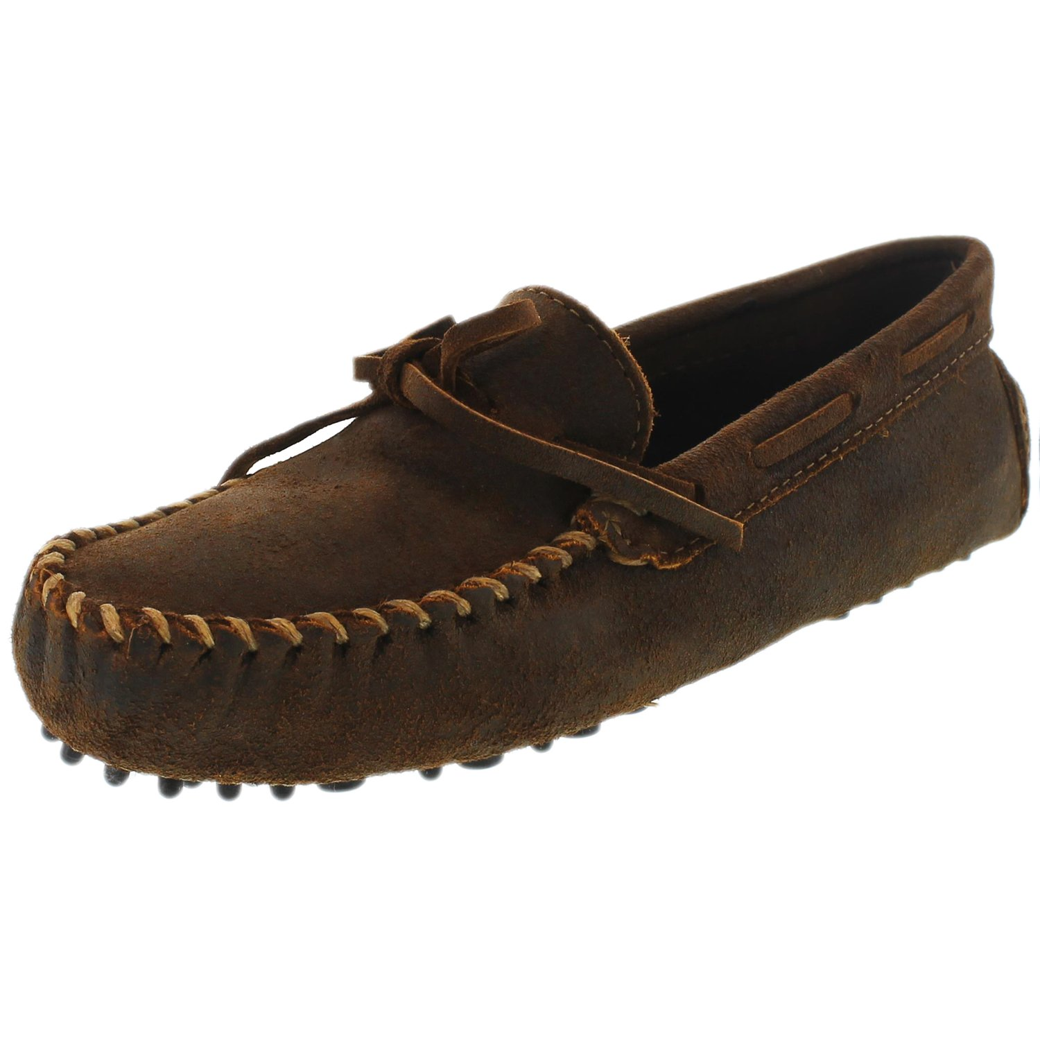 Minnetonka Men's Original Brown Ankle-High Leather Loafer - 7.5M
