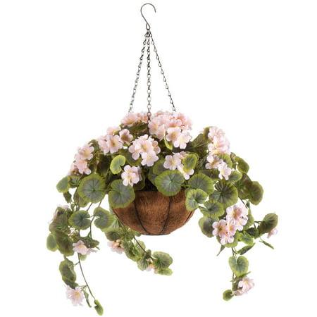 Full Assembled Geranium Hanging Basket by OakRidge™-Pink