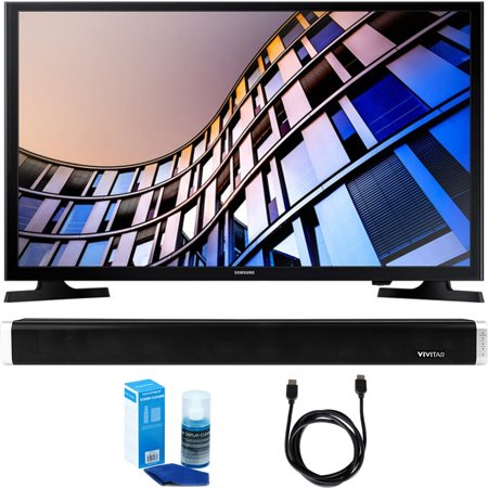 Samsung UN32M4500 32-Inch 720p Smart LED TV (2017 Model) w/ Sound Bar Bundle Includes, Vivitar 24-Inch Wall Mountable Wireless Bluetooth Soundbar, 6ft High-Speed HDMI Cable and LED TV Screen Cleaner for $<!---->