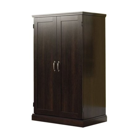 Oak Computer Armoire - Kingfisher Lane Cinnamon Cherry Computer Armoire