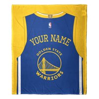 """NBA Golden State Warriors """"Jersey"""" Personalized Silk Touch Throw Blanket"""
